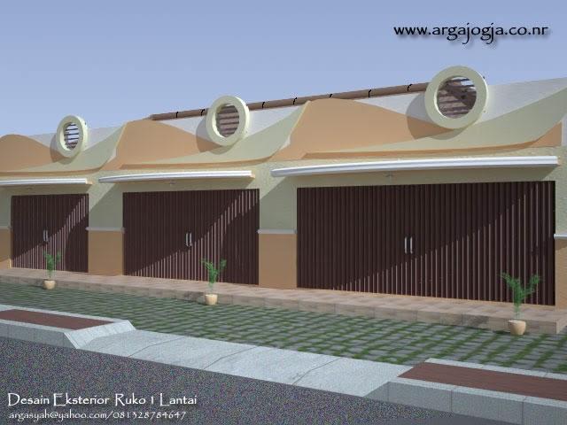 desain fasad eksterior ruko 1 lantai blognya wong sipil
