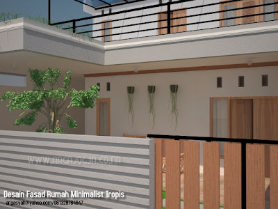Desain Fasad Rumah Tumbuh Minimalist Tropis