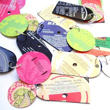 Recycled VINYL RECORD keyring party pack