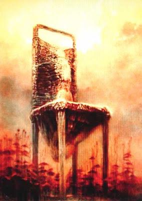 beksiński krzesło