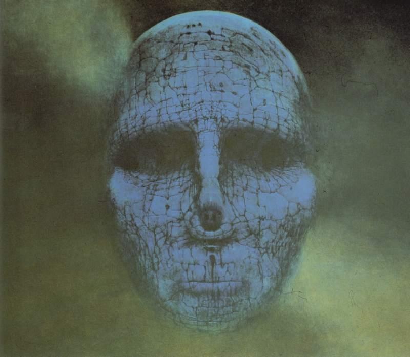 twarz z kamienia