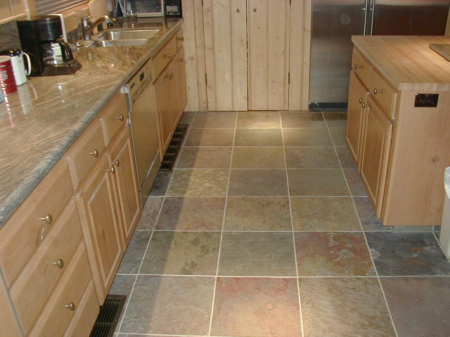 Slate stone natural stone tips on laying slate floor tiles for Kitchen flooring advice