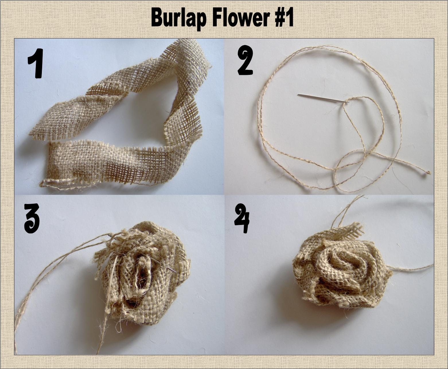 Today s Fabulous Finds 3 Burlap Flower Tutorials