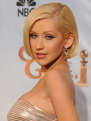 Christina promocionara Bionic en Reino Unido Christina+Aguilera+Golden+Globes+2010