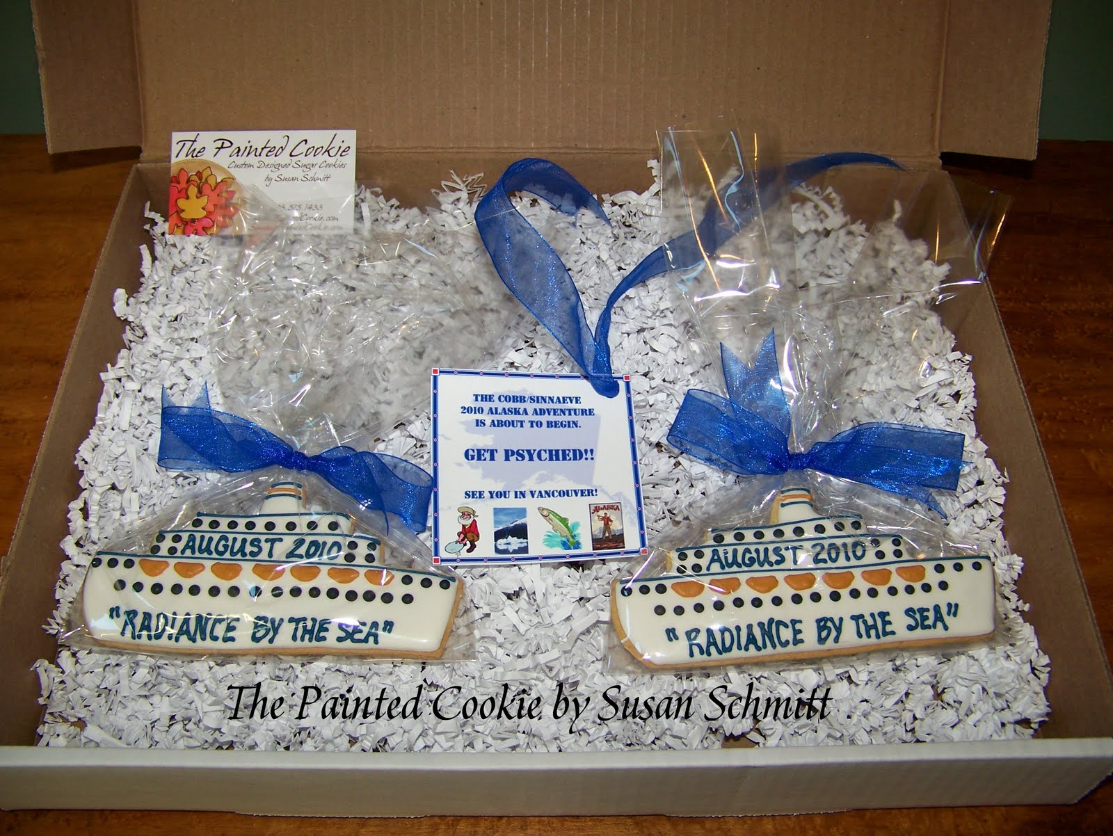 The Painted Cookie Cruise Ship CookieGrams - Cruise ship cake