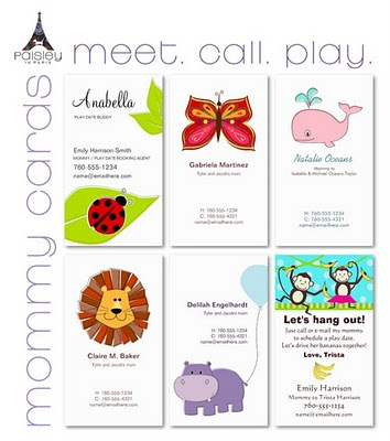 Play Date Calling Cards by Paisley In Paris™