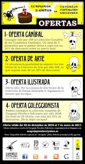 ofertas editoriales de El Cangrejo Pistolero libros de poesía