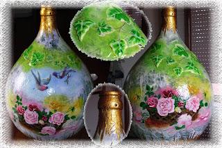 Gli angeli della casa - Damigiane decorate ...