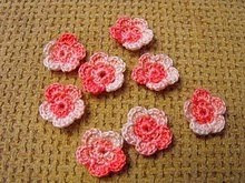New handmade crochet flowers for sale