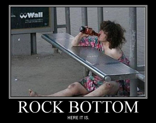 Labels: alcohol, rock bottom