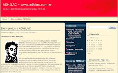 Sitio web de ADHILAC