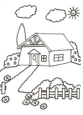 Dibujos para colorear de casas y castillos for Pintar en casa