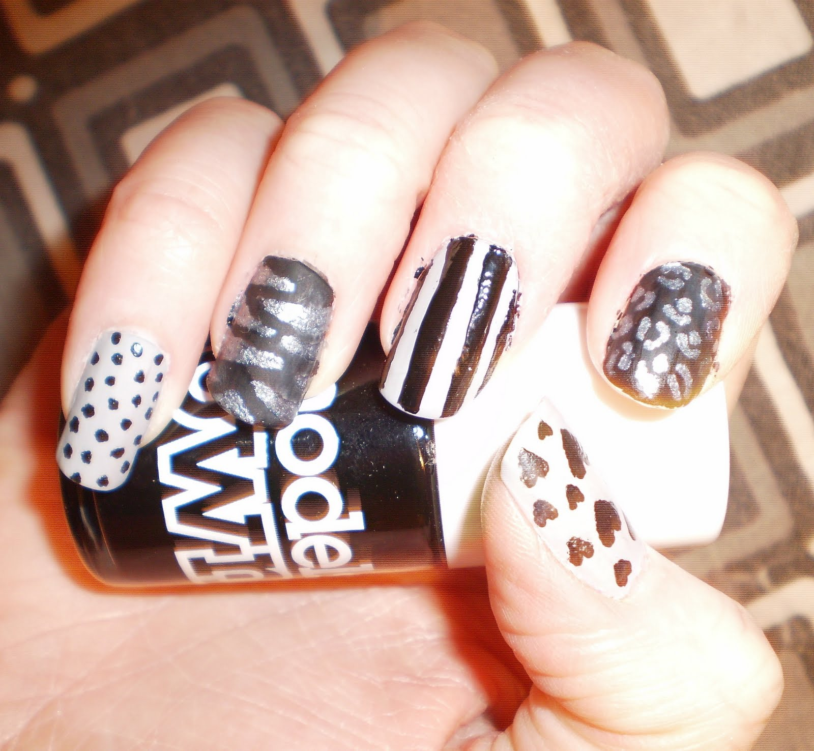 Nail Designs Using Black And Silver: As good i used black and silver ...
