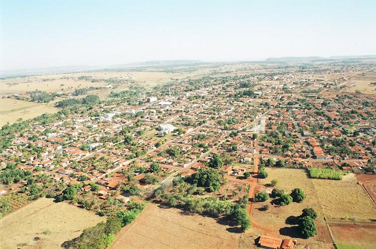 Foto panorâmica da cidade de Caçu