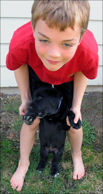 Chris, Roscoe pup