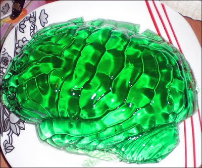 Green Jello brains