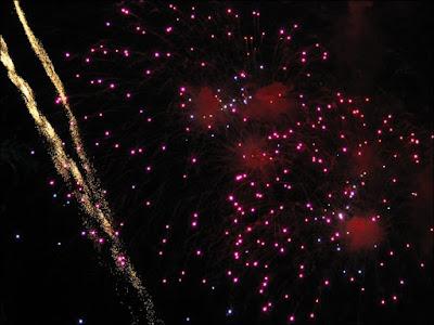Fireworks streak