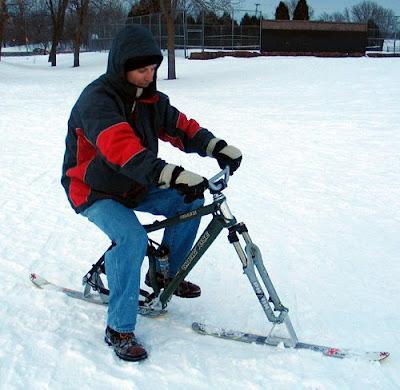 Snowbike at Elver Park