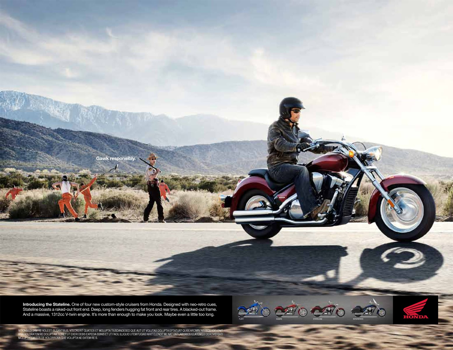 how to write a motorcycle ad