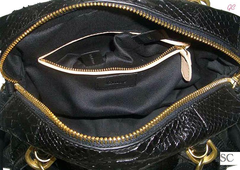Simply Chic Designer Handbag Consignments: Chloe Python Paraty Bag ...