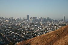 La colina y Down Town el centro de SF, al fondo.