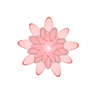 Teardrop Clip Art. Floral Garland Clip Art