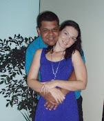 Aline e meu genro Tiago.