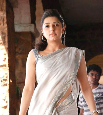 Tamil telugu Actress Bhumika Sexy Hot  in White Saree wallpapers