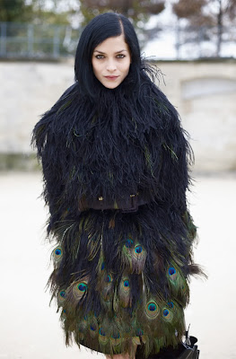 peacock feather coat, feather dress, fashion, feathers, peacock