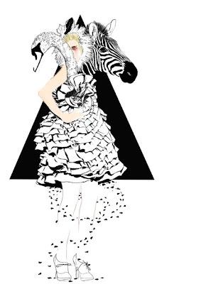 zebra drawing, swan drawing, artists, illustration, animal illustration, animal art, zebra art