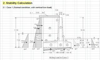 Download Program Perhitungan Struktur Dinding Penahan Pada Bendung