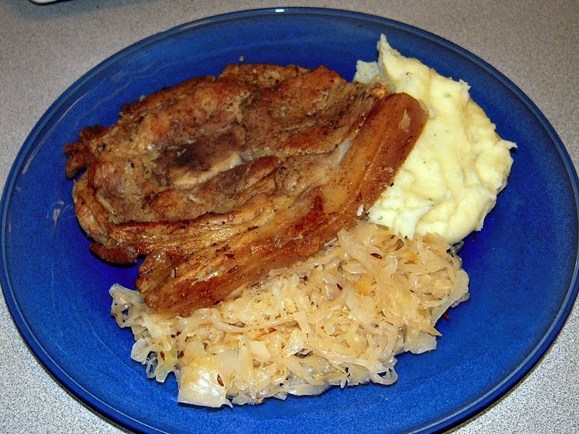 The Podanys | Welcome to our world: German Style Sauerkraut Pork Chops