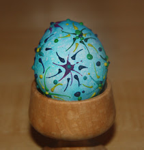 Wax Painting Easter Eggs