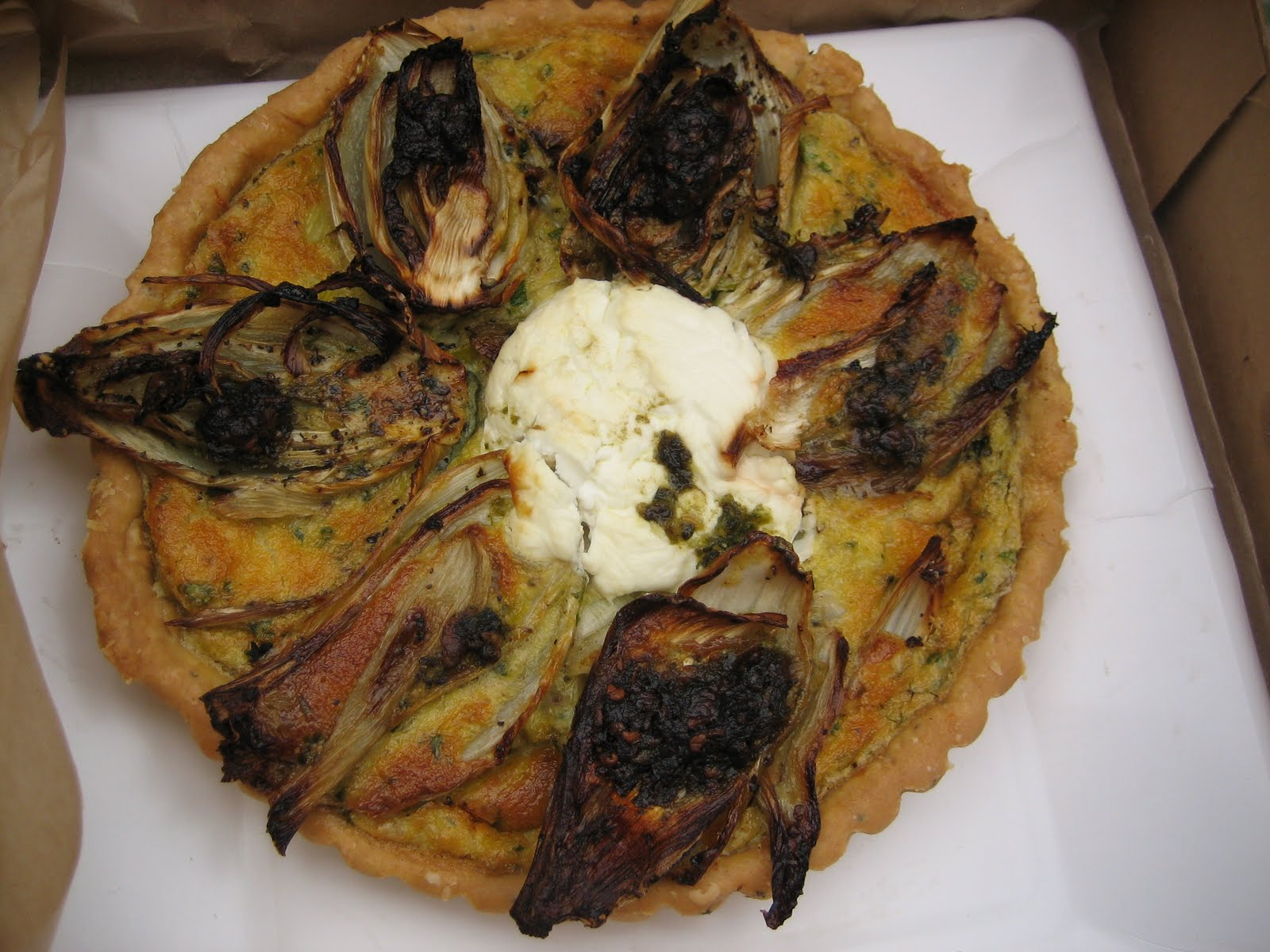 ... Day At The Market: Red Barn Bakery and The Fennel Savory Tart