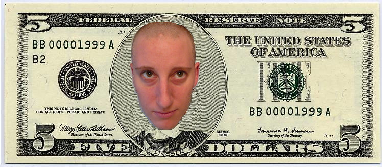 canadian 2 dollar bill back. 5 dollar bill back. pulling my