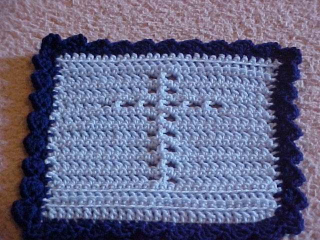 Welcome To Simply Jeans Cross Prayer Cloth Crochet