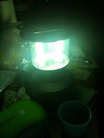 rechargeable lantern illuminating the darkness during Earth Hour