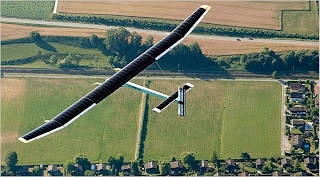 Photo of solar powered airplane that flew for 26 hours straight