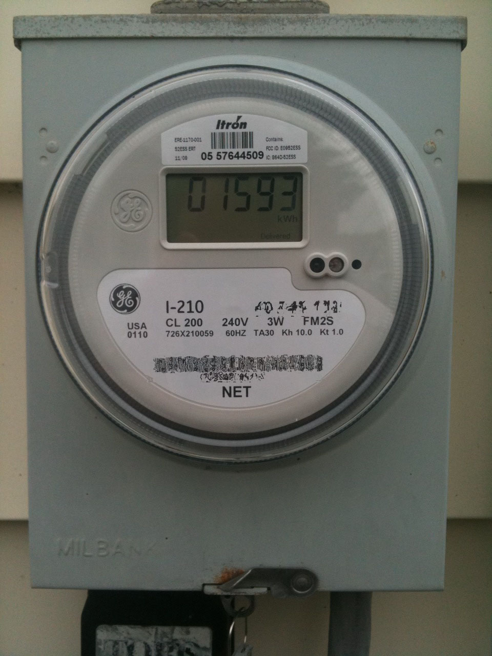Secondary Electric Meter : Going for solar new electric meter step — green