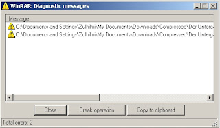 WinRAR Diagnostic Message: How To Extract 1