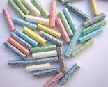 NEW 50 LOVELY UNIQUE PASTEL GLASS ROD BEADS 15x3.5mm -$4.25-