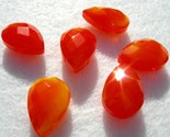 Orange Flame Glass Briolettes -$2.50-