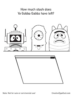 Yo Gaba Gaba coloring sheets