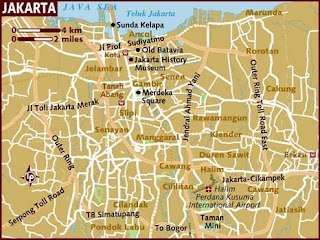 Maps of Jakarta Indonesia