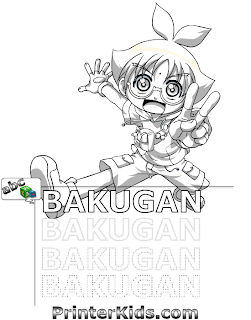 Printable coloring pages of Bakugan Battle Brawlers