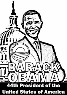 Barack Obama coloring page sheets for teachers and kids at school