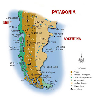 Tourist map of Patagonia