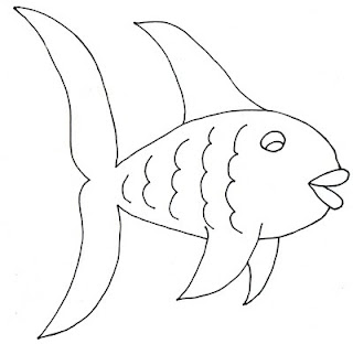 black and white fish clip art colorable picture