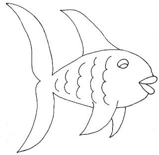 black and white fish clip art colorable picture