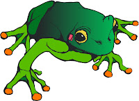 Beautiful green frog clip art pic